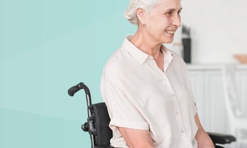 Mujer en silla de ruedas