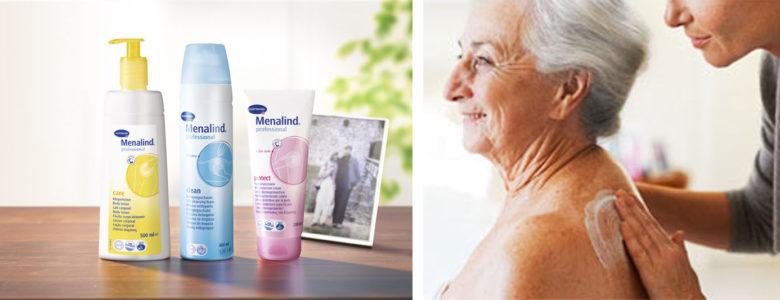 Gama Menalid, cremas hidratación de la piel en personas mayores